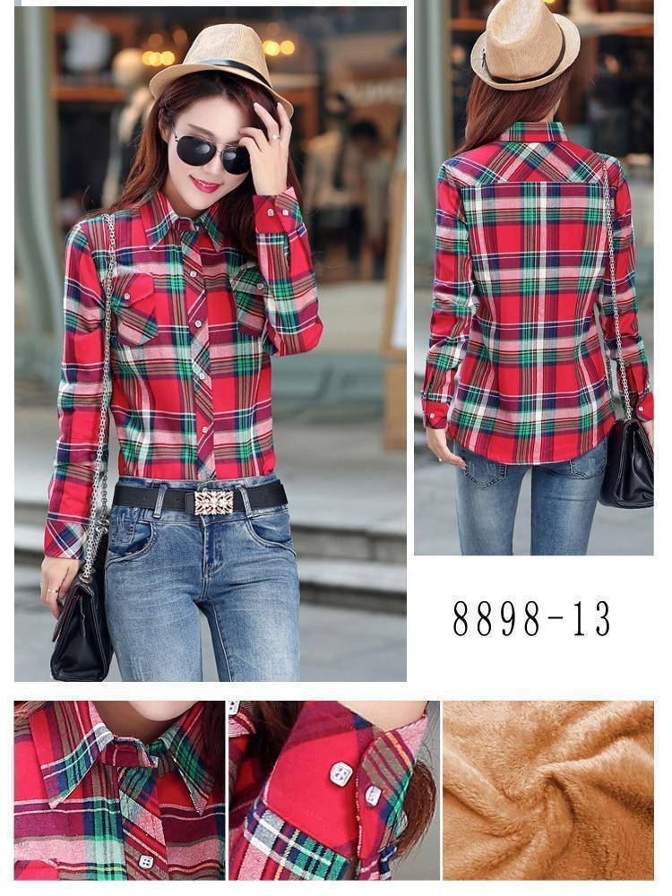 The Wookie - Women's Lined Flannel  -  8898012 / M  -  Blouses & Shirts  - SNS Outlet