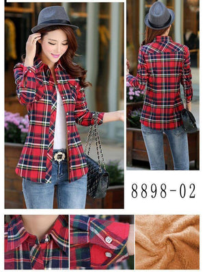The Wookie - Women's Lined Flannel  -  889802 / M  -  Blouses & Shirts  - SNS Outlet