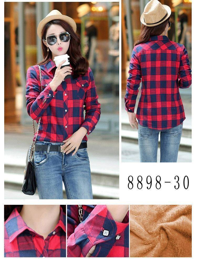 The Wookie - Women's Lined Flannel  -  8898030 / M  -  Blouses & Shirts  - SNS Outlet