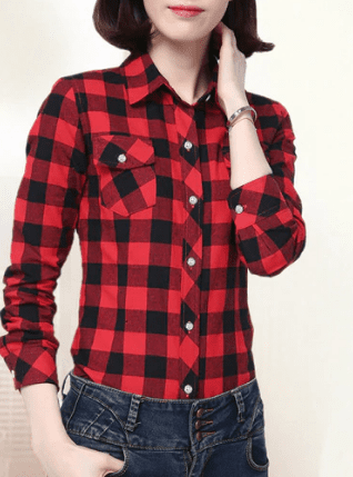 The Wookie - Women's Lined Flannel  -  8898040 / M  -  Blouses & Shirts  - SNS Outlet
