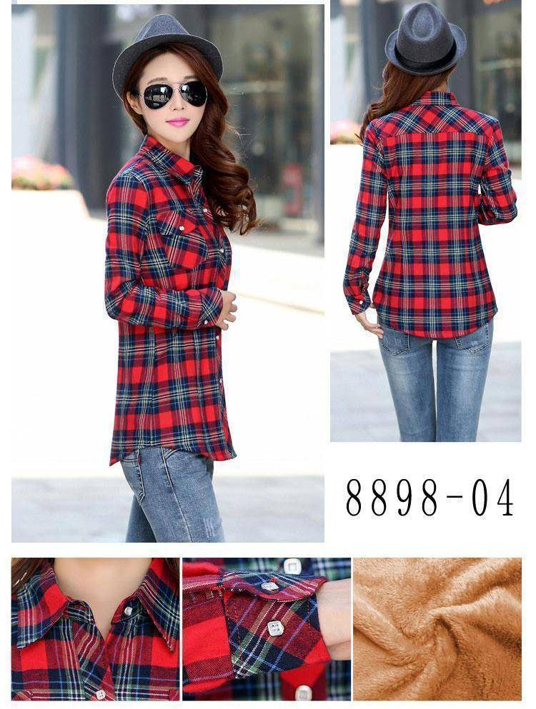The Wookie - Women's Lined Flannel  -  889805 / M  -  Blouses & Shirts  - SNS Outlet