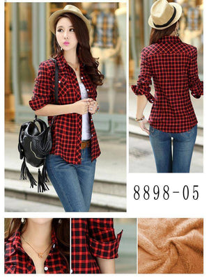 The Wookie - Women's Lined Flannel  -  889806 / M  -  Blouses & Shirts  - SNS Outlet