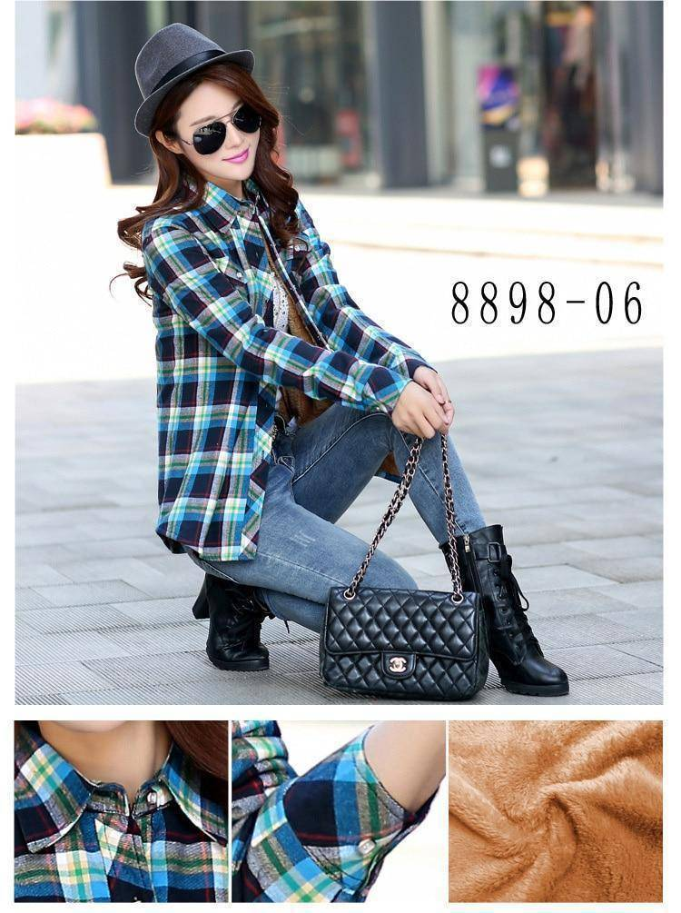 The Wookie - Women's Lined Flannel  -  889807 / M  -  Blouses & Shirts  - SNS Outlet
