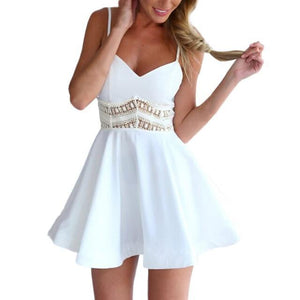 Vega Skater Dress By Maurice  -  WHITE / L / United States  -  Dress  - SNS Outlet
