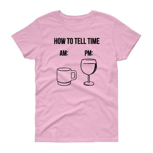 Wine Time Women's T-Shirt  -  Light Pink / S  -  T-shirt  - SNS Outlet