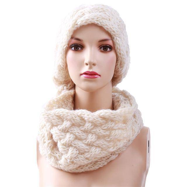Winter Ring Scarf  -  Beige  -  Scarf  - SNS Outlet