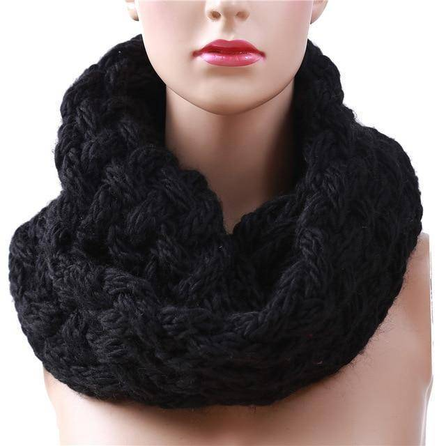 Winter Ring Scarf  -  Black  -  Scarf  - SNS Outlet