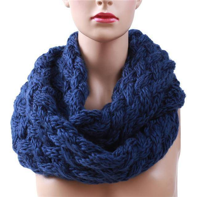 Winter Ring Scarf  -  Blue  -  Scarf  - SNS Outlet