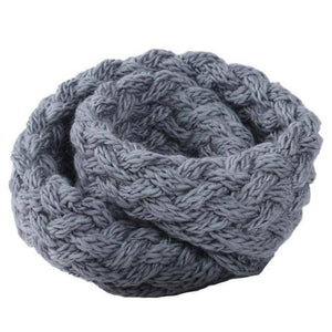 Winter Ring Scarf  -  Grey  -  Scarf  - SNS Outlet