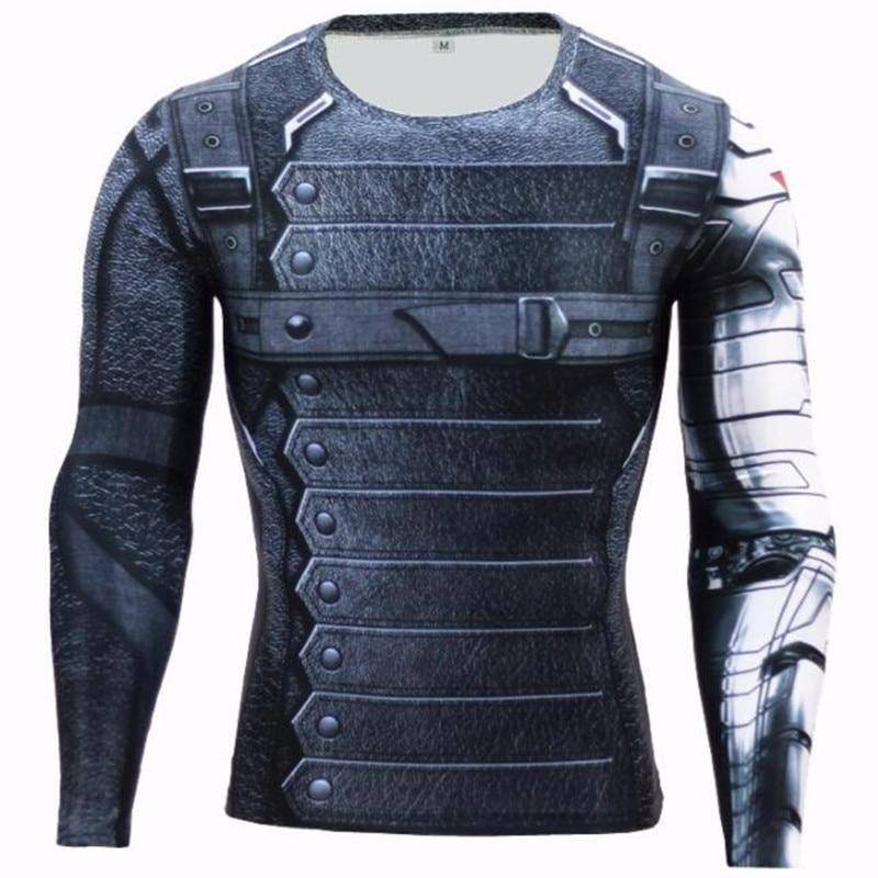 Winter Soldier Crossfit Compression Shirt  -  picture color / S  -  T-Shirts  - SNS Outlet