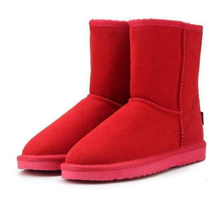 WOLF Mid Cut Aussie Boot  -  Red / 3  -  Boots  - SNS Outlet