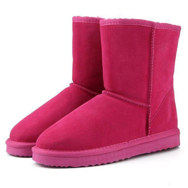 WOLF Mid Cut Aussie Boot  -  Rose Red / 3  -  Boots  - SNS Outlet