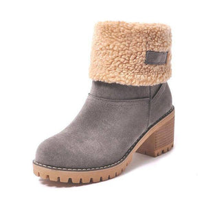 WOLF Waterproof Fur Boots  -  gray / 4  -  Boots  - SNS Outlet