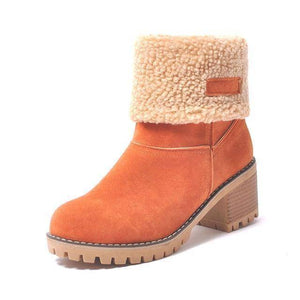 WOLF Waterproof Fur Boots  -  orange / 4  -  Boots  - SNS Outlet