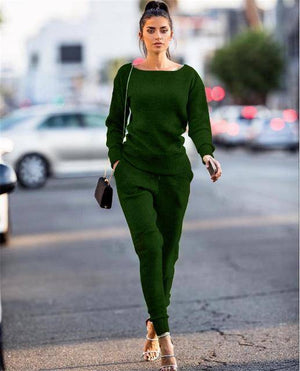 Women's Casual Jogger Set  -  Green / S  -  Track Suit  - SNS Outlet