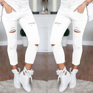 Women's Skinny Jeans  -  WHITE / S  -  Jeans  - SNS Outlet