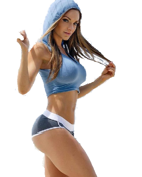Women's Sleeveless Crop Top Hoodie  -  Blue / S  -  Sleeveless Hoodie  - SNS Outlet