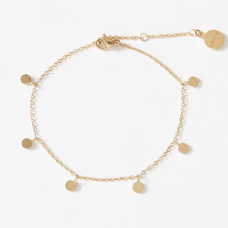 Dainty Bracelet with playful discs - aaina & co