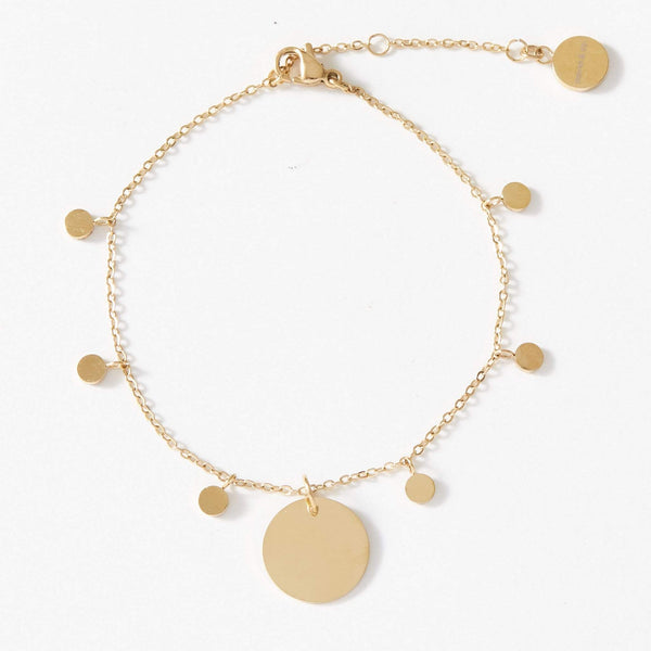 Personalised Dainty Bracelet with playful discs - aaina & co