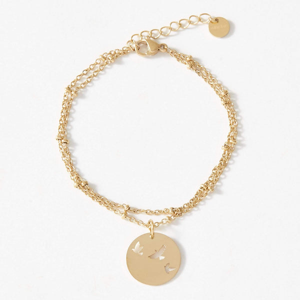 Bird Ball Chain Bracelet - aaina & co
