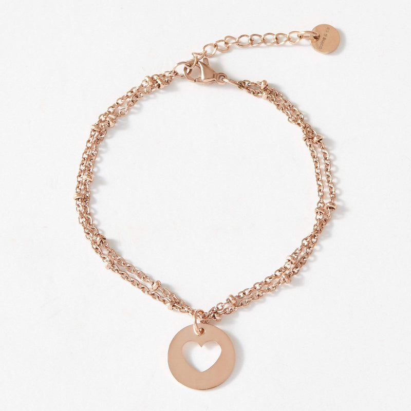 Heart Ball Chain Bracelet - aaina & co