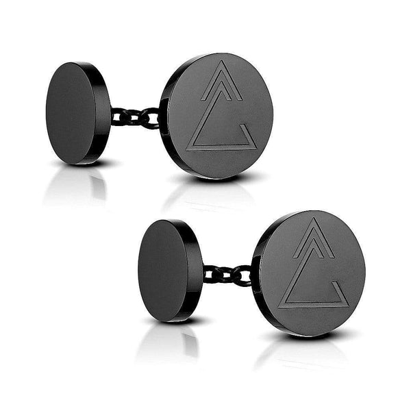 Unclosed Delta Chain Cufflinks - aaina & co