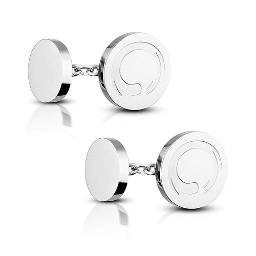 Zen Circle Chain Cufflinks - aaina & co