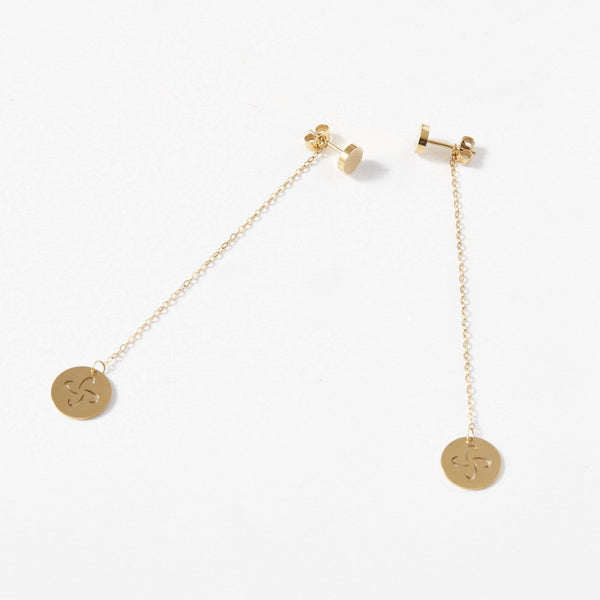 Tabono Drop Chain Earrings - aaina & co