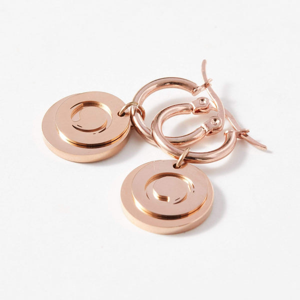 Zen Circle Hoop Earrings - aaina & co