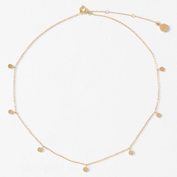 Dainty Necklace with playful Discs - aaina & co
