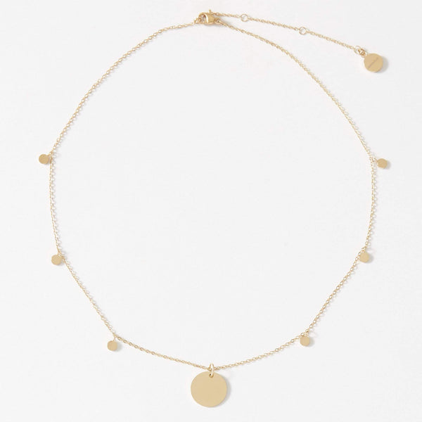 Personalised Dainty Necklace with playful discs - aaina & co