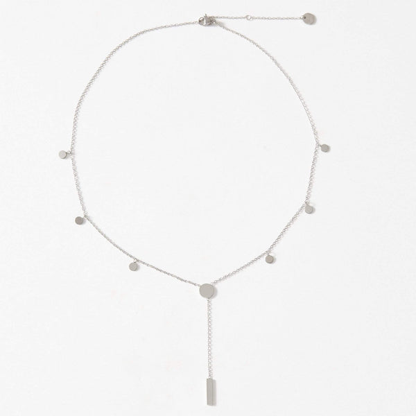 Dainty Drop Bar Necklace - aaina & co