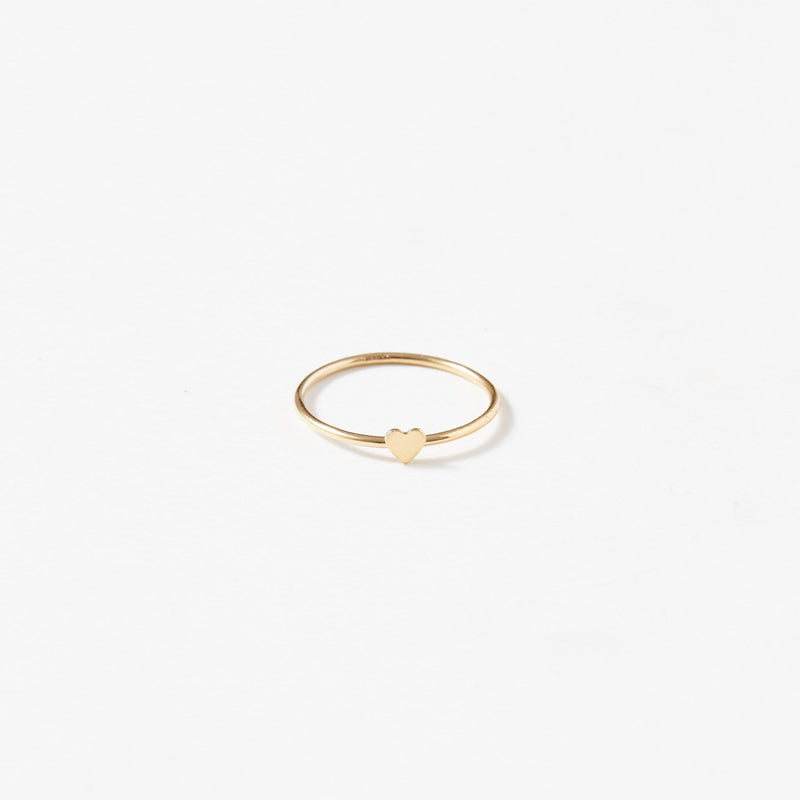 Dainty Heart Ring - aaina & co