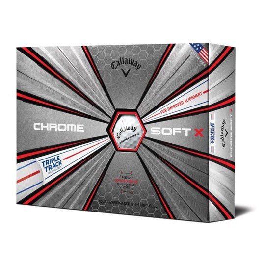 Callaway Chrome Soft X mit Triple Track Technologie - 12er Pack