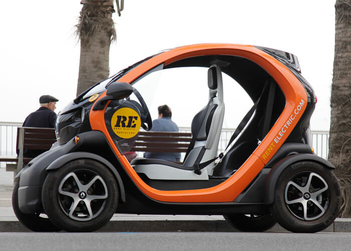 Rent Electric Car Renault Twizy 45 Km H Barcelona Rentelectric