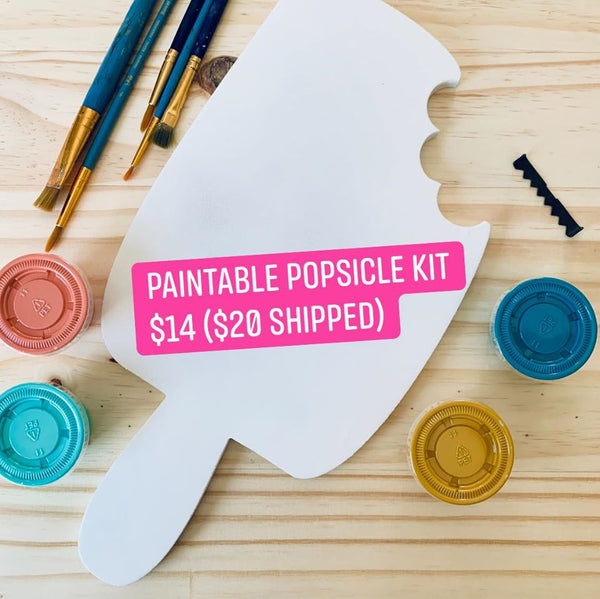 Paintable Popsicle Kit - GooeyGump Designs