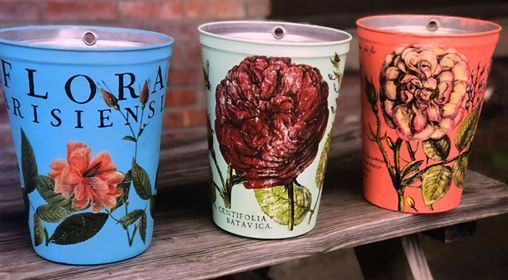 Painted Vermont Sap Buckets with IOD Transfer - GooeyGump Designs