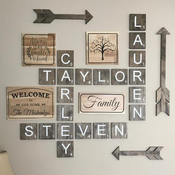 Scrabble Tile Wall Set- SUNDAY FEBRUARY 9th - GooeyGump Designs