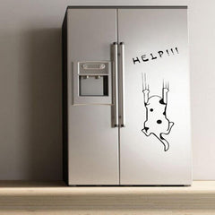Cat Refrigerator Kitchen Wall Sticker