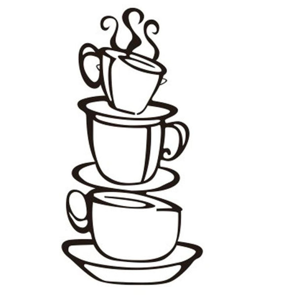 Coffee Cup Vinyl Wall Sticker
