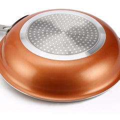 Red Copper Nonstick Frying Pan
