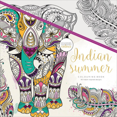 "271688 KaiserColour Perfect Bound Coloring Book 9.75""X9.75"" Indian Summer"
