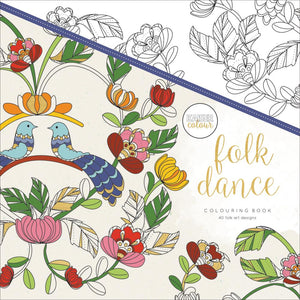 "271690 KaiserColour Perfect Bound Coloring Book 9.75""X9.75"" Folk Dance"
