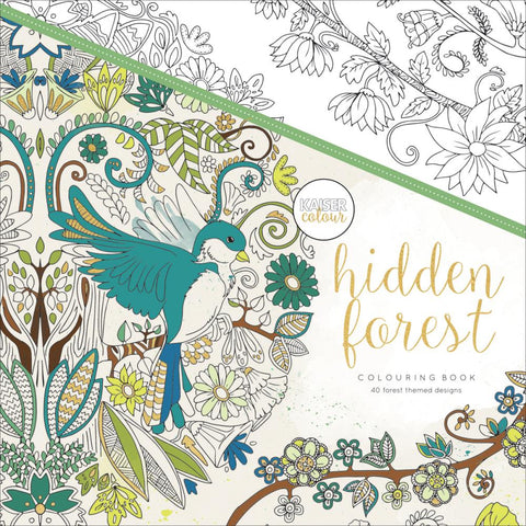 "271691 KaiserColour Perfect Bound Coloring Book 9.75""X9.75"" Hidden Forest"