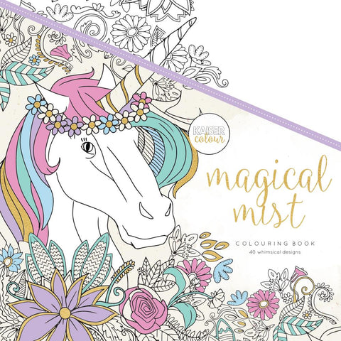 "271936 KaiserColour Perfect Bound Coloring Book 9.75""X9.75"" Magical Mist"