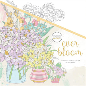 "275670 KaiserColour Perfect Bound Coloring Book 9.75""X9.75"" Ever Bloom"