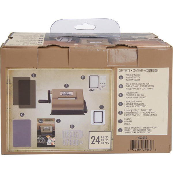 281969 Sizzix Sidekick Starter Kit Featuring Tim Holtz Brown & Black