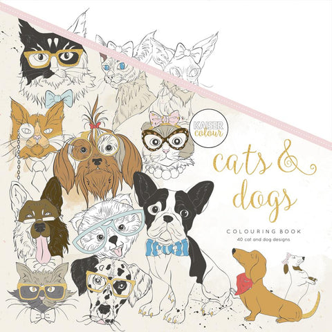 "375333 KaiserColour Perfect Bound Coloring Book 9.75""X9.75"" Cats & Dogs"
