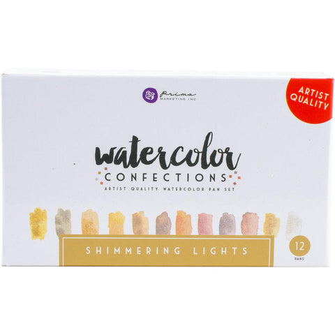 425315 Prima Watercolor Confections Watercolor Pans 12/Pkg Shimmering Lights