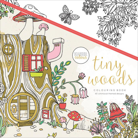 "527710 KaiserColour Perfect Bound Coloring Book 9.75""X9.75"" Tiny Woods"